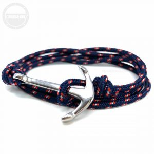 Anchor Bracelet Paracord Navy Blue
