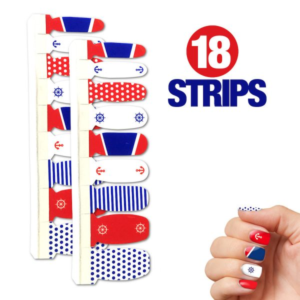 Cruise Nail Polish Strips - 18 Strips Included
