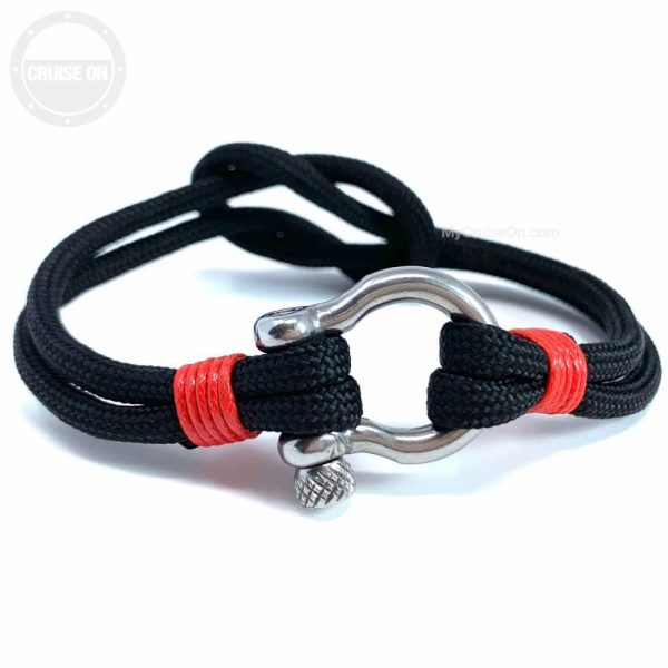 Anchor Shackle Bracelet Black