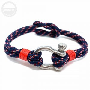 Anchor Shackle Bracelet Navy Blue