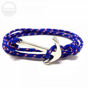 Anchor Bracelet Paracord Blue