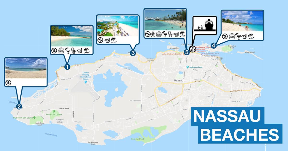 Best And Free Beaches Near Nassau Cruise Port