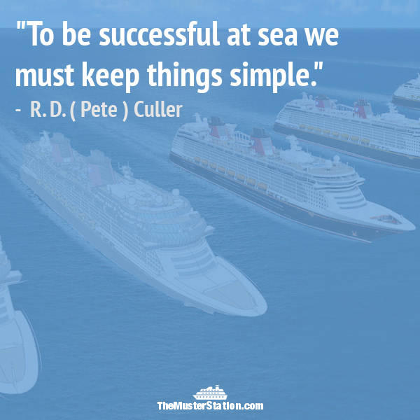 Ocean Quote 14 of 99: To be successful at sea we must keep things simple.