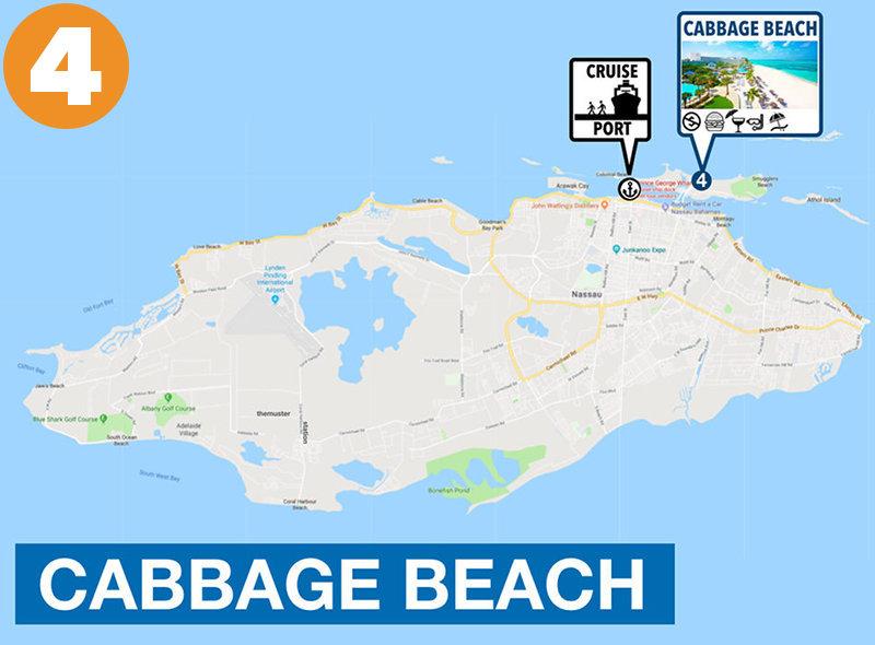 Cabbage Beach to Nassau Cruise Port