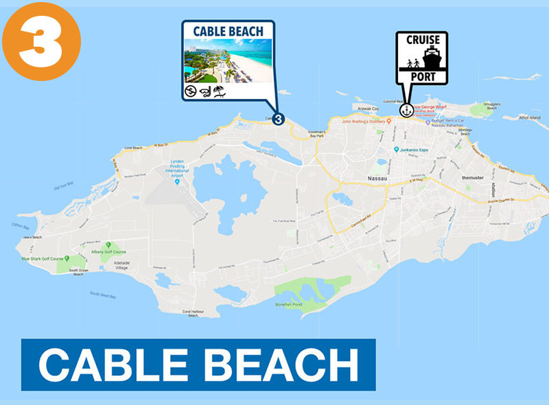 Cable Beach to Nassau Cruise Port