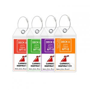 Carnival Cruise Luggage Tags - 4 Count