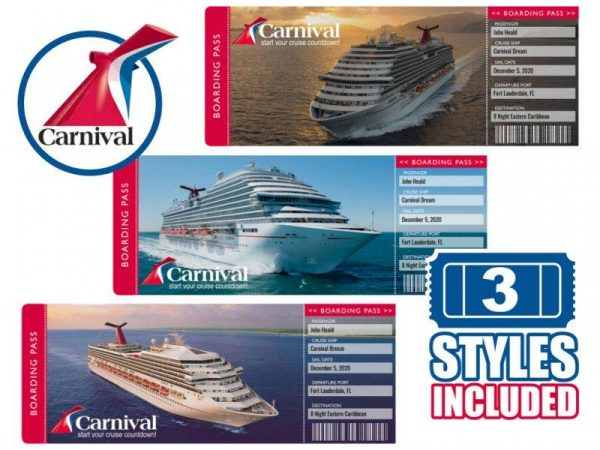 Carnival Cruise Tickets Printable