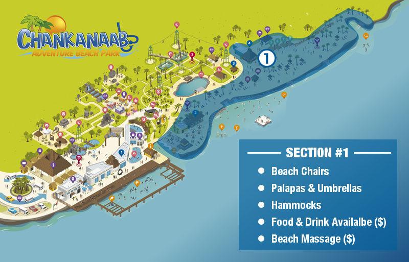 Chankanaab Park Map - Beach