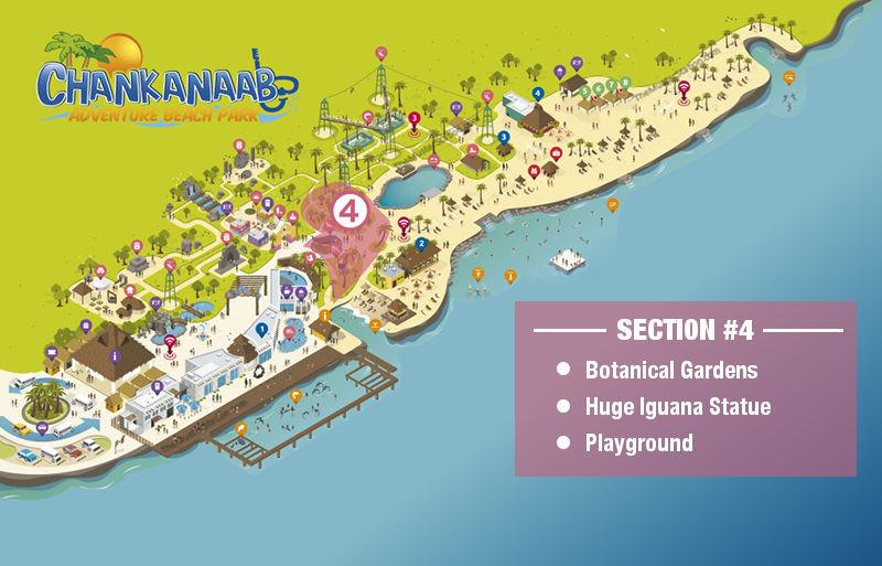 Chankanaab Park Map - Gardens
