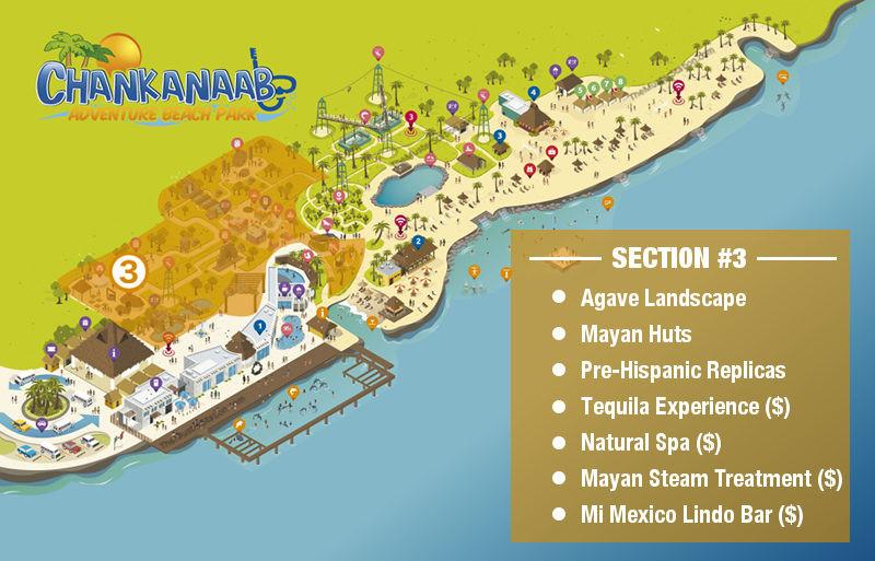 Chankanaab Park Map - Mayan Scultpures Ruins