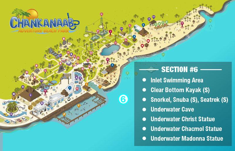Chankanaab Park Map - Snorkel, Scuba, Underwater Sculptures