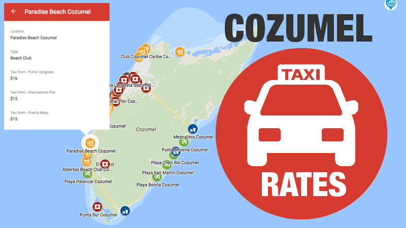 Cozumel Cruise Port Taxi Rates