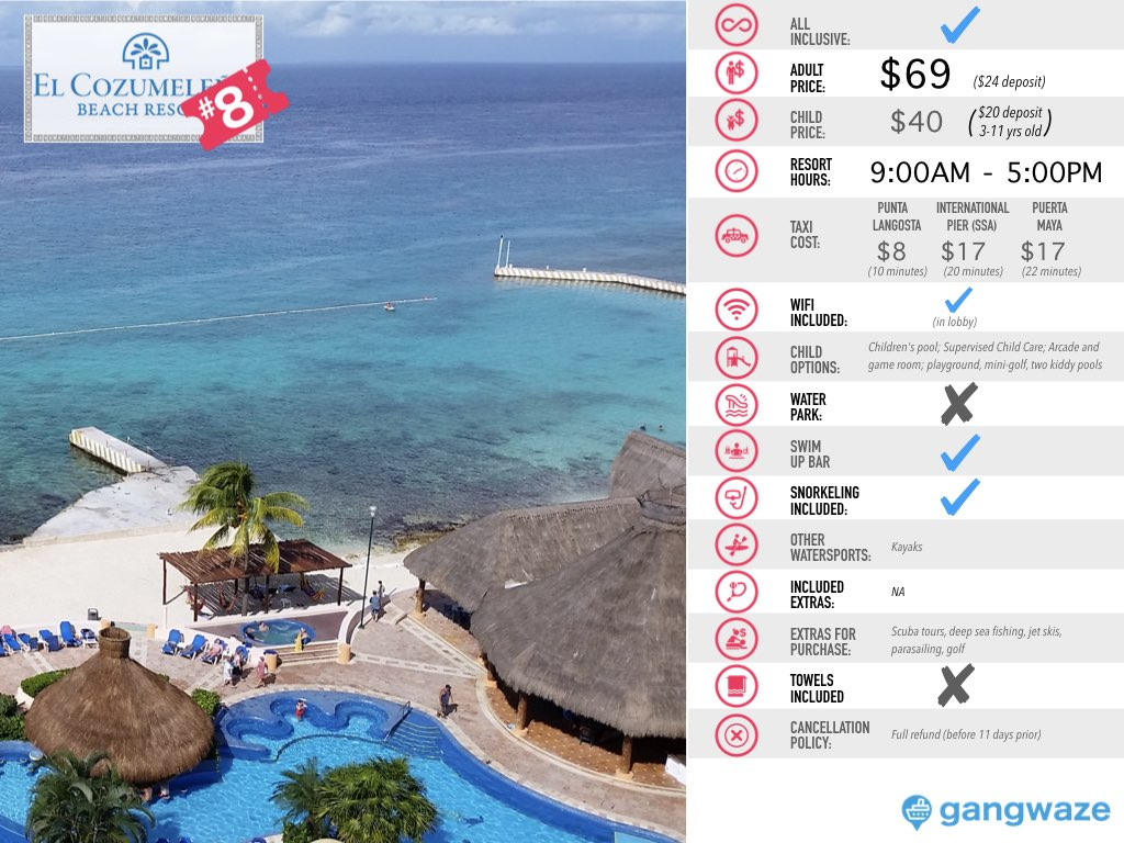 Cozumeleno Day Pass Info
