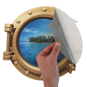 Cruise Porthole Sticker Door Decoration