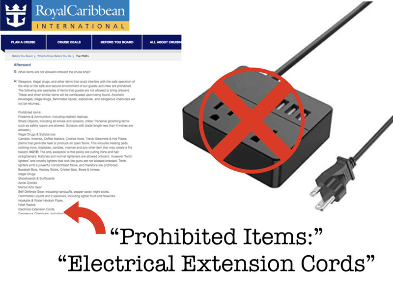 Cruise Extension Cord Ban