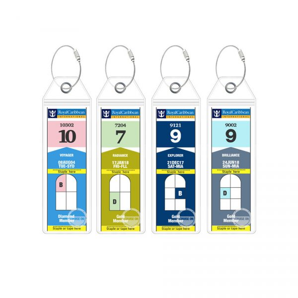 Royal Caribbean Luggage Tags - 4 Pack