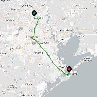 George Bush Airport to Galveston Cruise Port
