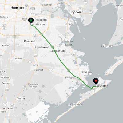 Houston Hobby Airport to Galveston Cruise Port