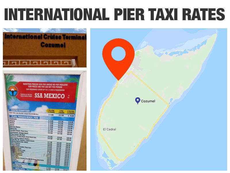 Cozumel Cruise Port Taxi Rates - International Pier (SSA Mexico)