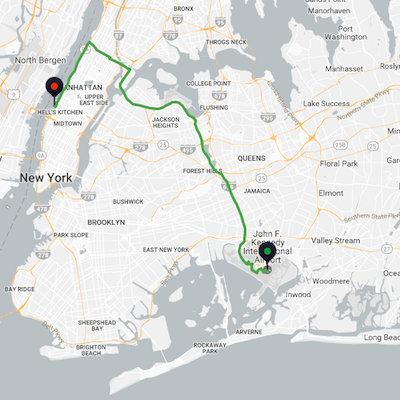 JFK to New York City Cruise Port