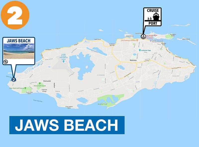 Jaws Beach to Nassau Cruise Port