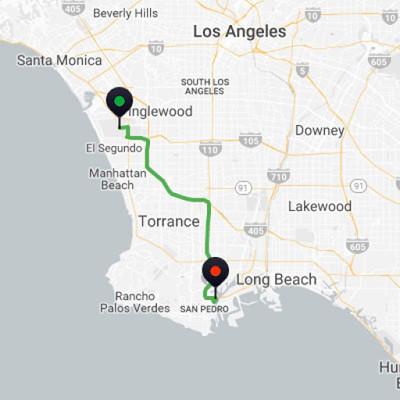 LAX to San Pedro Cruise Port