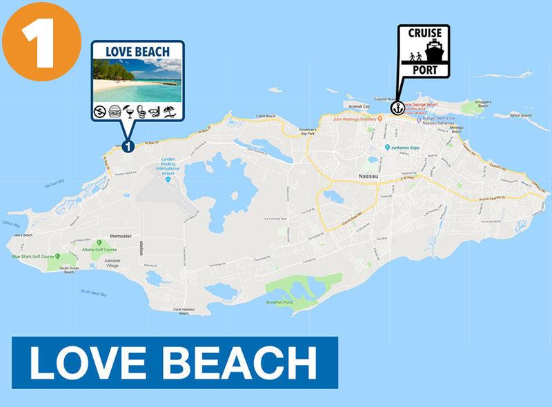 Love Beach to Nassau Cruise Port