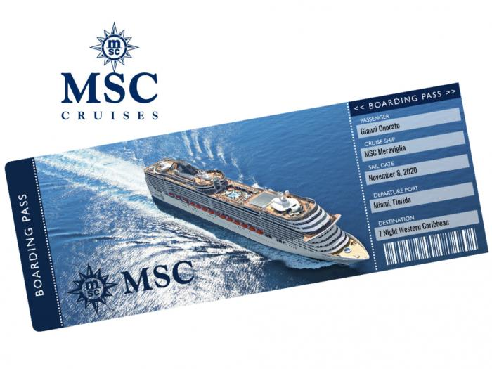 MSC Cruise Ticket Template