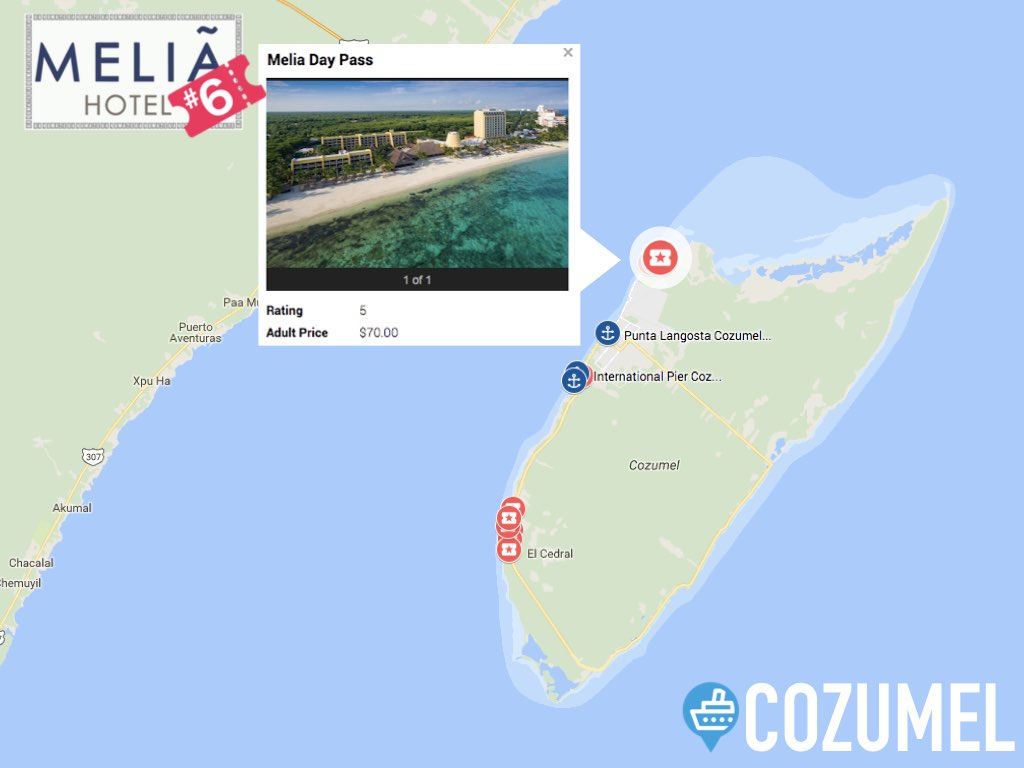 Melia Cozumel All Inclusive Distance from Port