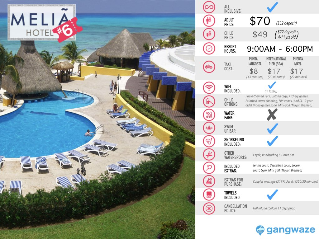 Melia Cozumel Day Pass Info