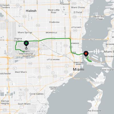 Miami Airport to Miami Cruise Port