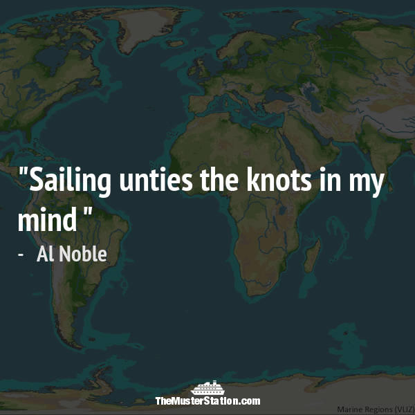 Ocean Quote 36 of 99: Sailing unties the knots in my mind.