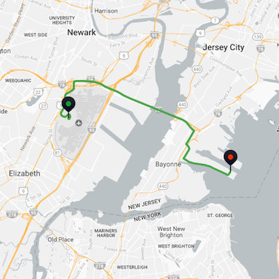 Newark Airport to Cape Liberty Bayonne Cruise Port
