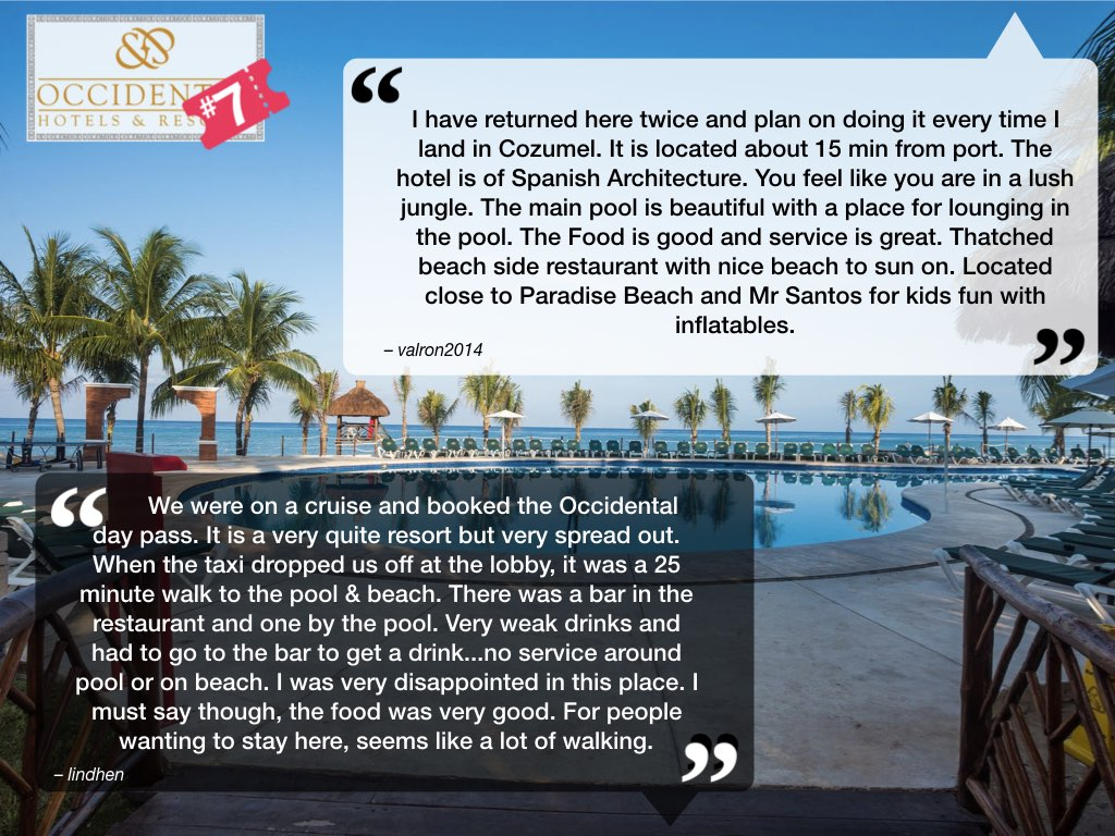 Occidental Cozumel Reviews