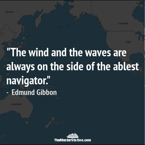 Nautical Saying 57 of 99: The wind and the waves are always on the side of the ablest navigator.