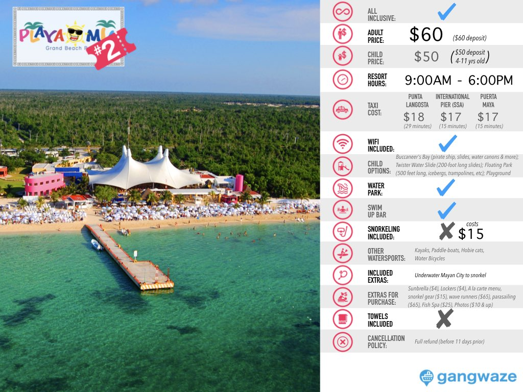 Playa Mia Cozumel Day Pass Info