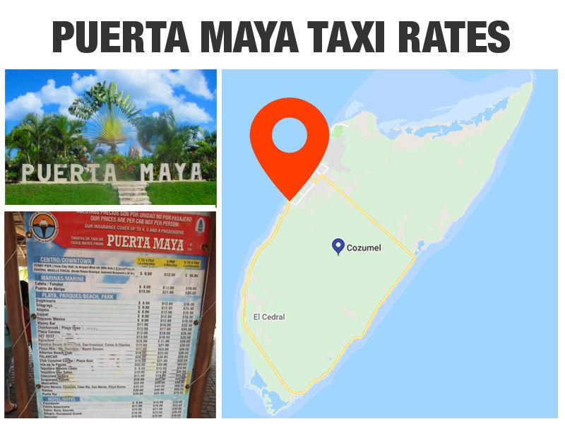 Cozumel Cruise Port Taxi Rates - Puerta Maya Pier