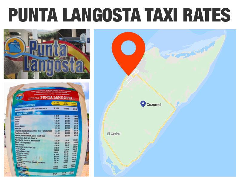 Cozumel Cruise Port Taxi Rates - Punta Langosta Terminal
