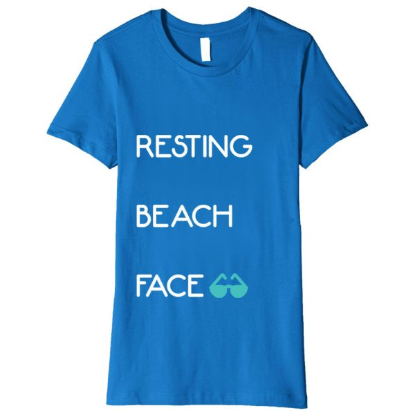 """Resting Beach Face"" - Funny Vacation Shirt"