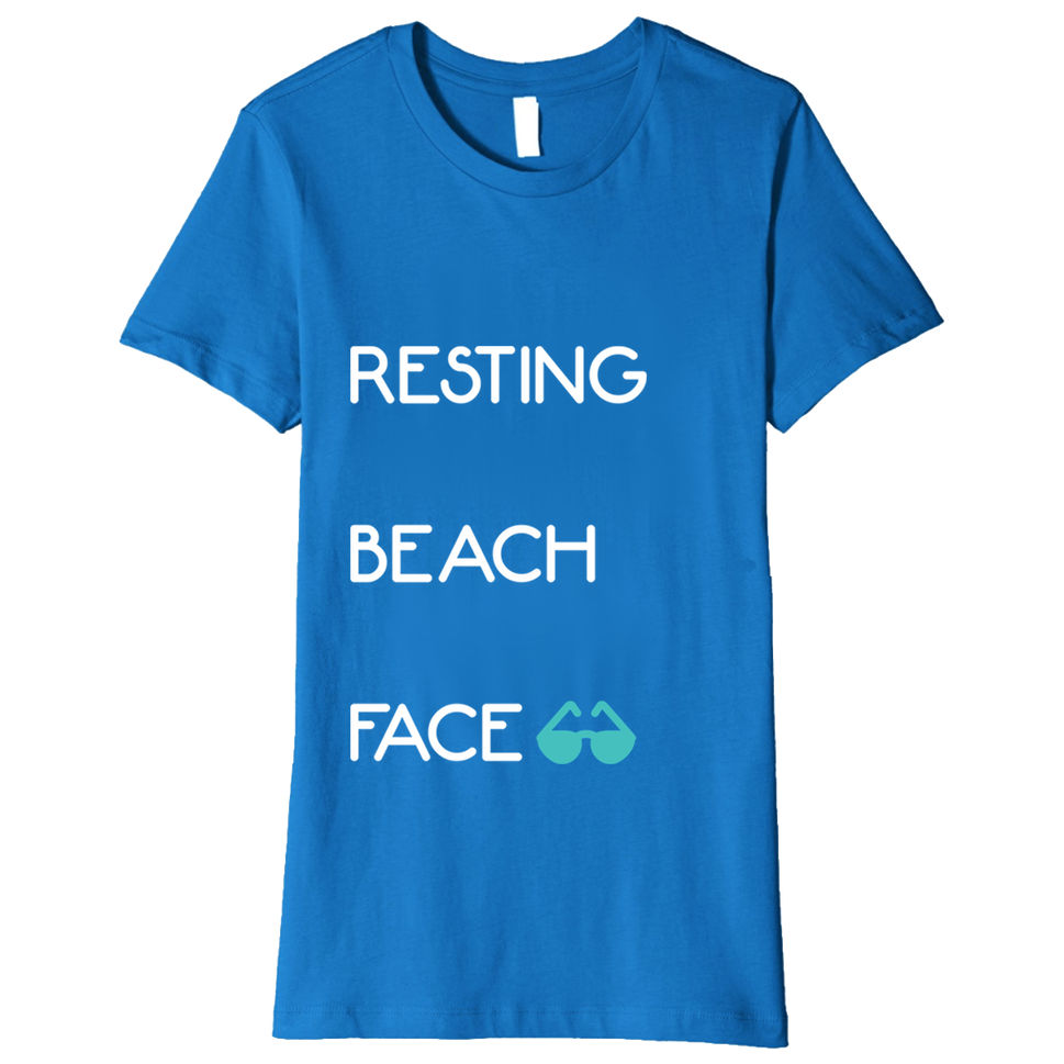 """""""Resting Beach Face"""" - Funny Vacation Shirt"""
