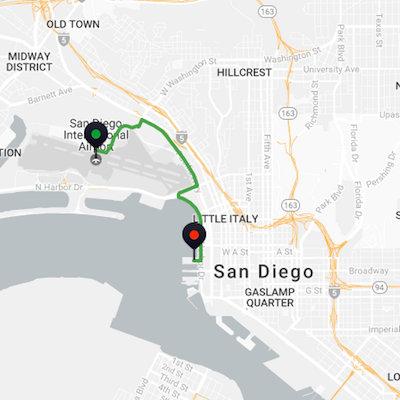San Diego Airport to San Diego Cruise Port