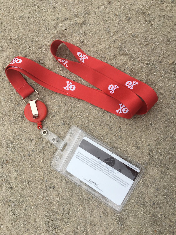 Cruise Ship Lanyard & ID Holder [2 Pack] Pirate Design (Red)