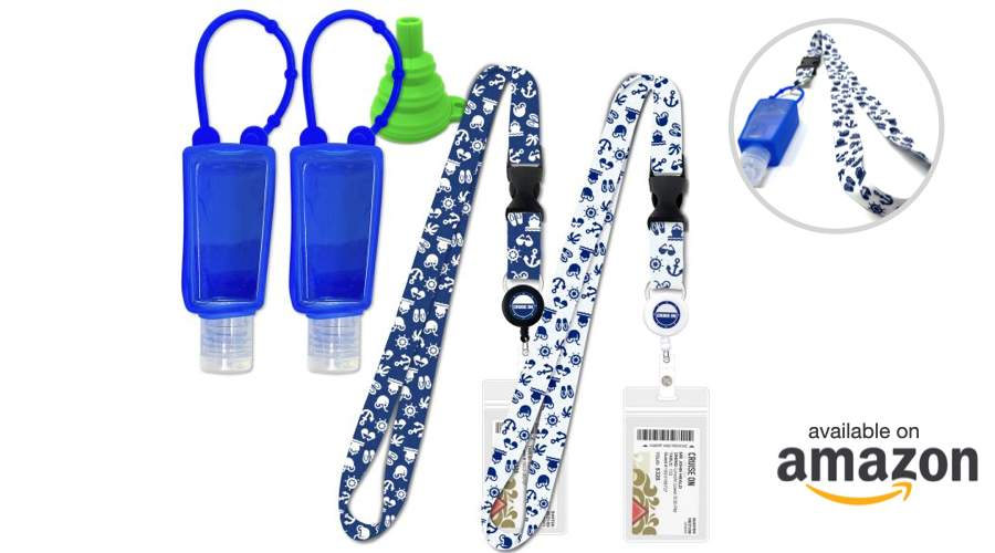 Travel Essentials Covid Items - Sanitizer Bottles with Lanyard