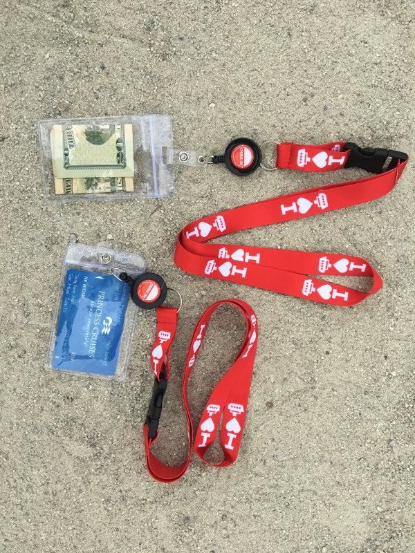 Cruise ID Holder & Lanyards [2 Pack] I ♥️ Cruising Design (Red)