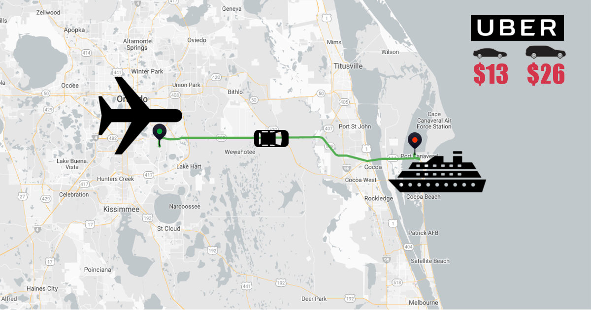 Uber Miami Airport >> Airport To Cruise Port Uber Costs 2019 For Every Us Port