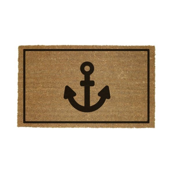 Coco Coir Door Mat [Large] Anchor Design