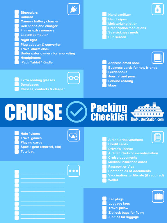 Cruise Packing List Free PDF Download