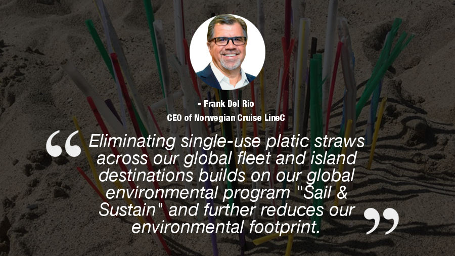 straw ban quote norwegian cruise line